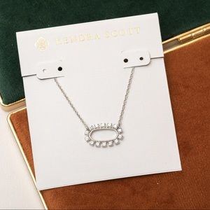 Kendra Scott Elisa silver crystal necklace